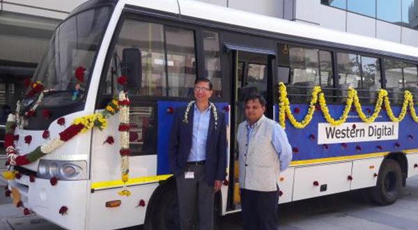 Akshaya Patra gets a donation of a TATA Star bus by Western Digital