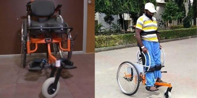 India's 1st Standing Wheelchair from IIT Madras !