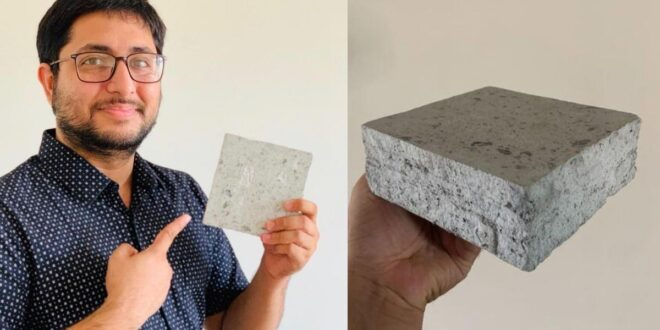 "This ""Recycle Man"" turns Biomedical waste into Bricks !"