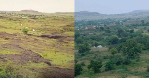 Maharashtra Government Officer Inspires 50,000 people to turn barren land Green again!