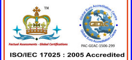 We are ISO 17025 : 2005 accredited Company !