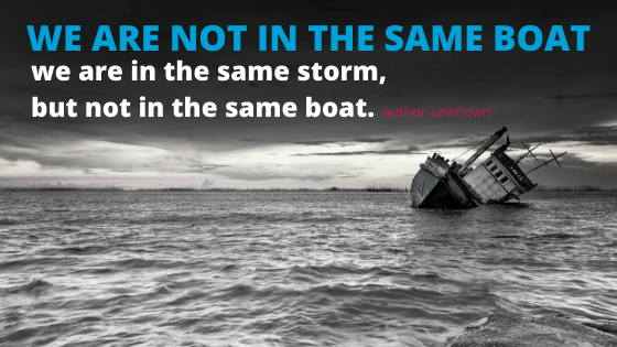 We are not in the same BOAT !